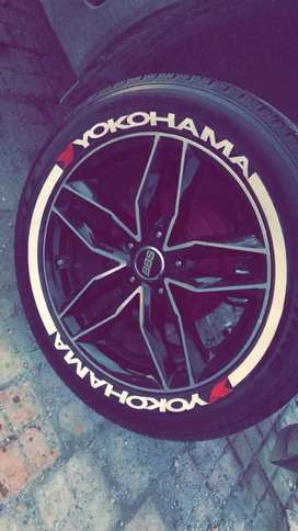 Car bike tyre sticker yokohama michelin sticker tyre sticker NEW.