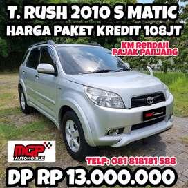 (DP 13jt) Toyota Rush 2010 S Matic Antik Orisinil KM Rendah Pajak Pjg
