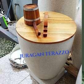 Jual bak mandi minimalis teraso marmer type gelasT65 D45