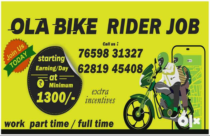 OLA BIKE RIDER JOBS 0