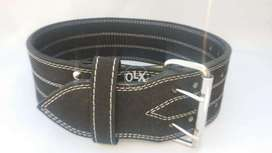 weight lifting belt with double prong buckle power category