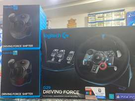 LOGITECH G29+SHIFTER  free home Delivery ( MY GAMES )