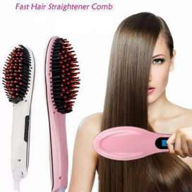 Hair straightener bursh pink