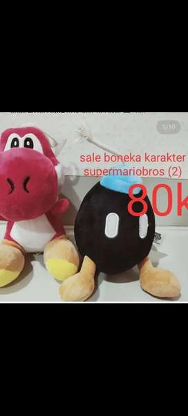 Boneka lucu karakter MarioBros