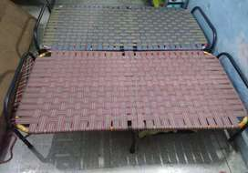 Two Iron Folding Cot/Bed