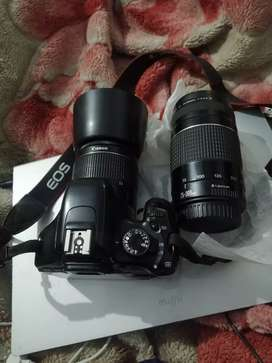 Conon 550d with two lenses
