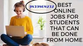 Form filling part time job free time easy English typing job
