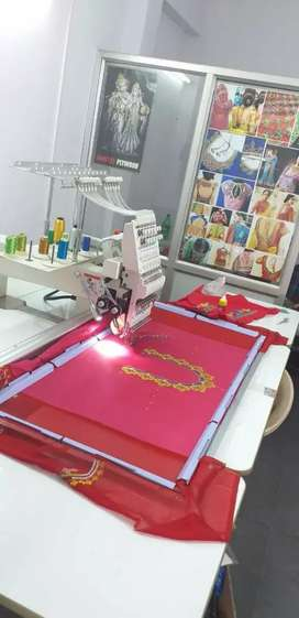Big size sarees and blouses & dreses Computer embriodary machine sale