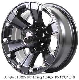 jual velg berkualitas JUNGLE JT5325 HSR R15X65 H6X139,7 ET0 SMB