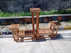 wooden planter / 3 tower stand
