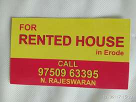 Arranged rented house in Erode.  Available in Moolapalayam rent 7.5k