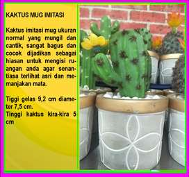 Tanaman Kaktus Mini Plastik Bunga Artificial Sukulen Imitasi