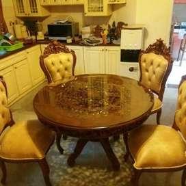 Meja makan kursi sofa meja ukir