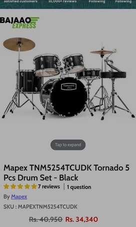 Mapex tornado acoustic drum set