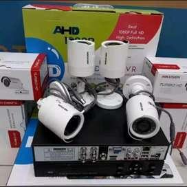 Camera CCTV 4Chanel Paket Berikut Pemasangan