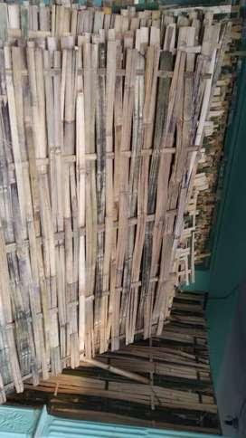 pagar bambu ukuran 2meter