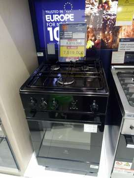Kredit electrolux kompor standing 3 tungku tanpa CC gratis 1x cicilan