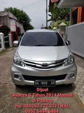Toyota Avanza G Manual Tahun 2014