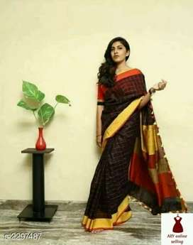 Stylish Linen Women's Sarees