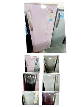 Single door fridge with warranty, delivery available