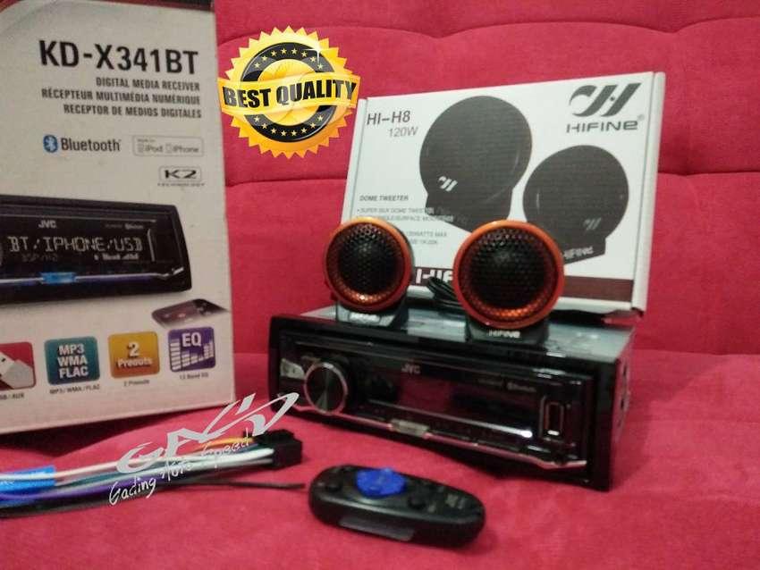 TWEETER HIFINE +JVC KD-X341BT Digital Media Receiver USB FLAC 0