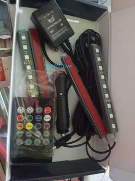 1set isi 4unit led lampu kolong dasbord 16warna rgb plus modul lengkap
