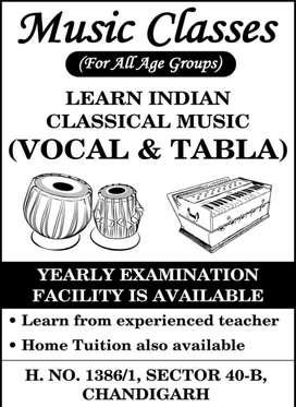 Music Classes (VOCAL, TABLA)
