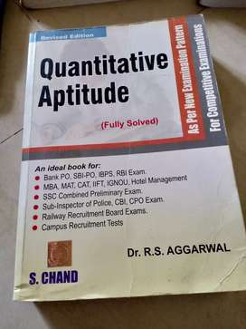 Quantitative aptitude book by R.S.aggarwal