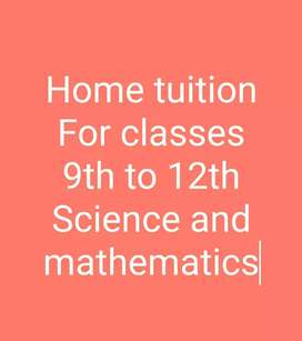 Contact me for home tuition 9th to 12th