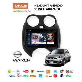 Hu android Orca 9inc For Nissan March (grosiran)
