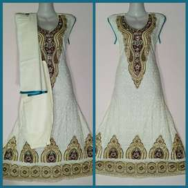 stitched  embroidery suit