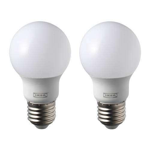 IKEA 33 RYET Bohlam LED E27 600 Lumen Bulat Putih 6 Watt isi 2 PCS 0