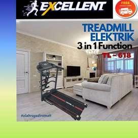 treadmill elektrik TL-618 G-32 alat olahraga lari