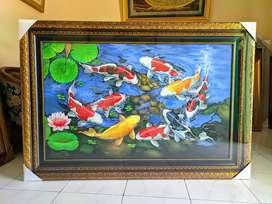 Lukisan ikan koi 9 ekor