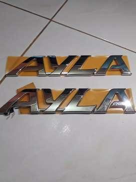 Emblem logo ayla chrome