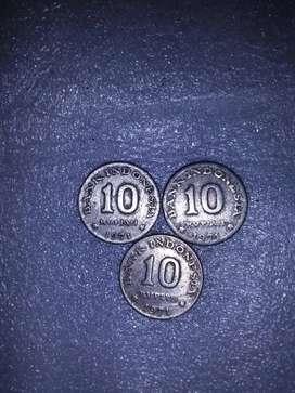 Uang koin 10 rupiah tahun 1971