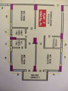 3 bhk 1050 sqft flats at Tapoban city affordable price