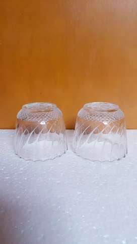 2pc Gelas Kaca Kristal Mini Gelas Hias Kecil Gelas Sloki Motif