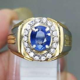 Batu Cincin Natural Blue Safir Srilangka Selon Asli