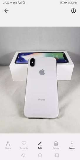 Iphone x 64gb white with 3 months warranty