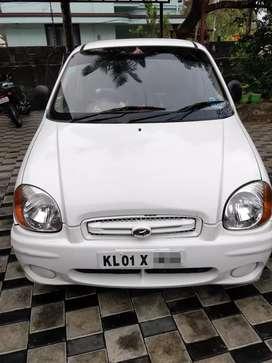 Santro 2002 model white car