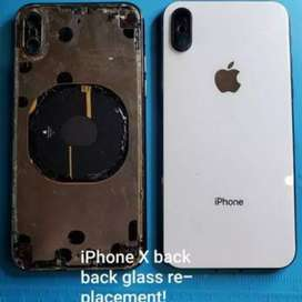 iphone X back glass replacement only  2500