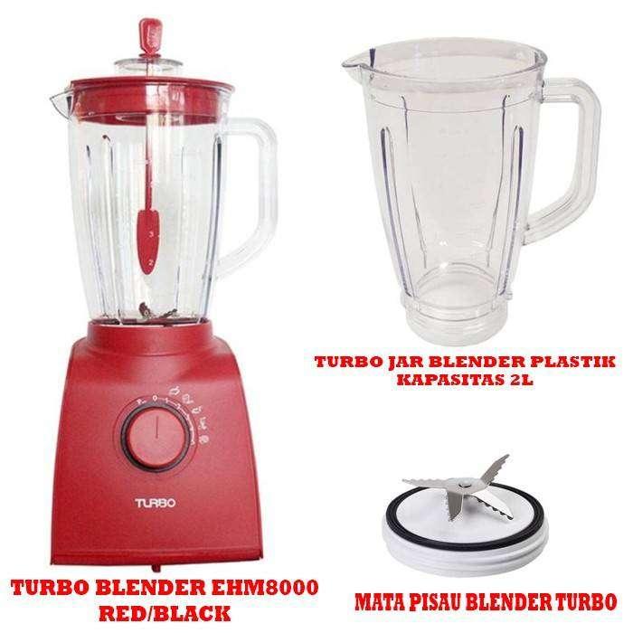 Turbo Set Blender EHM8000 Dengan Jar Plastik 2L Dan Mounting Turbo