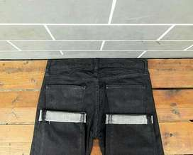 Celana panjang uniqlo jeans selvedge slim fit / LP / Long Pants