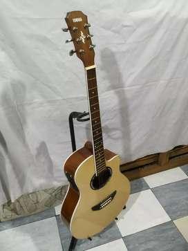 Gitar akustik elektrik apx lisputih tanam besi New string