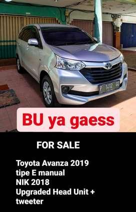 Dijual Cepat Avanza E 2018 manual
