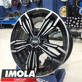 Jual velg mobil standar racing ring 14 brio HSR wheel gresik