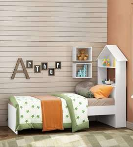 Single bed - Pepperfry -  McAubrey Single Bed with Shelves