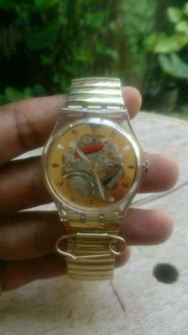Swatch Ladies Goldie Elastic Strap