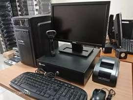 Komputer utk Kasir dgn training system ipos 4 traktivasi siap pake